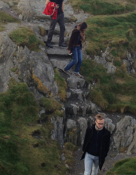 Nicolas, Cecile and Lars visiting Wicklow ruins