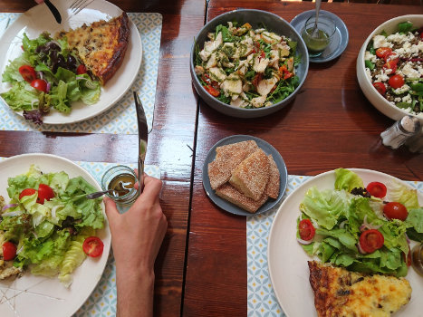 L'Atelier, quiches and salads